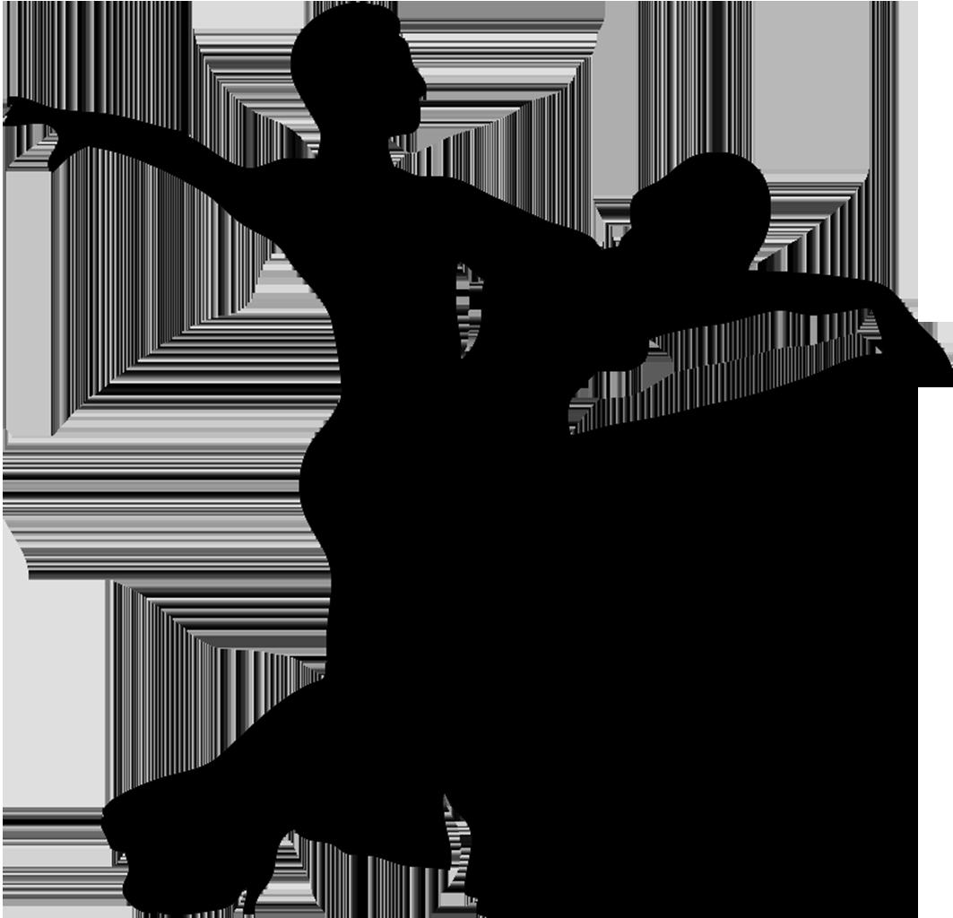 Ballroom dance silhouette