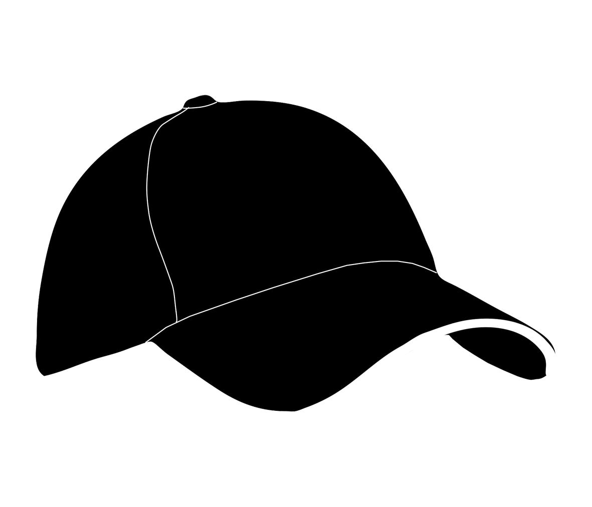 Black And White Hat Part : Baseball clipart