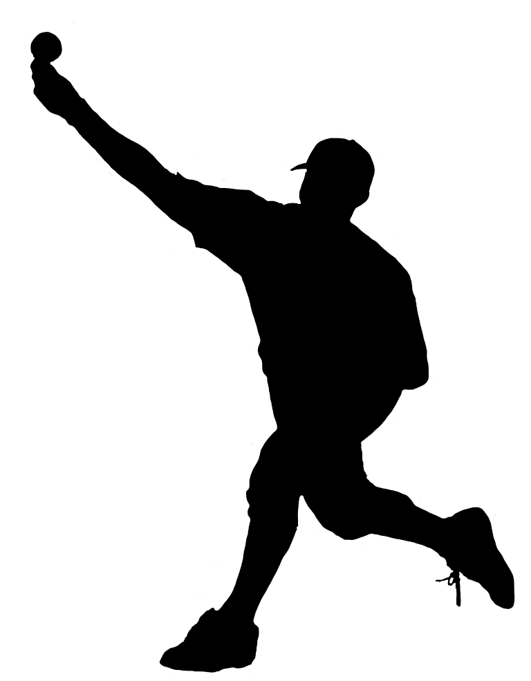baseball pitch release silhouette
