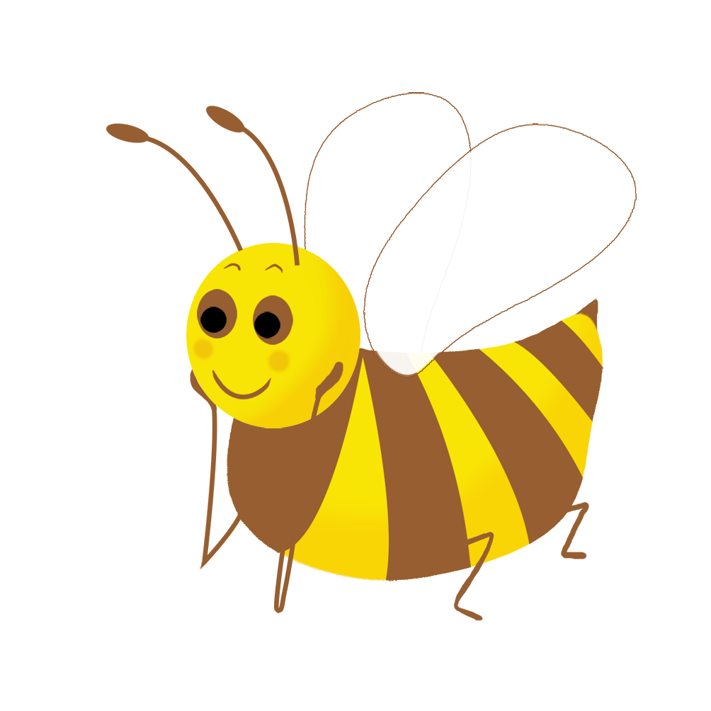beautiful bee clipart
