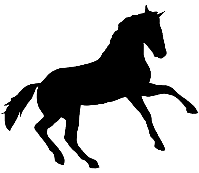 printable horse silhouette