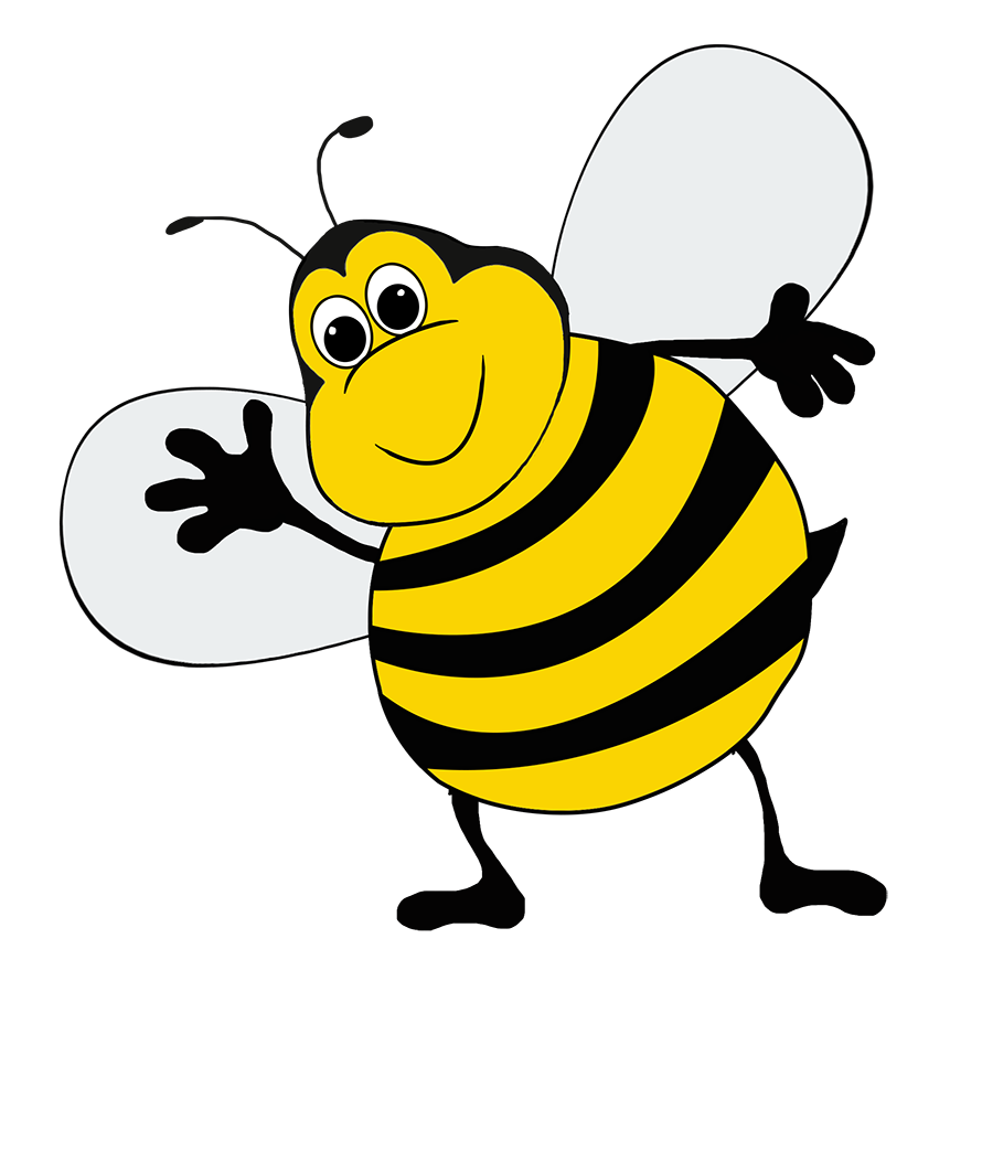 bee clipart funny bee cartoon