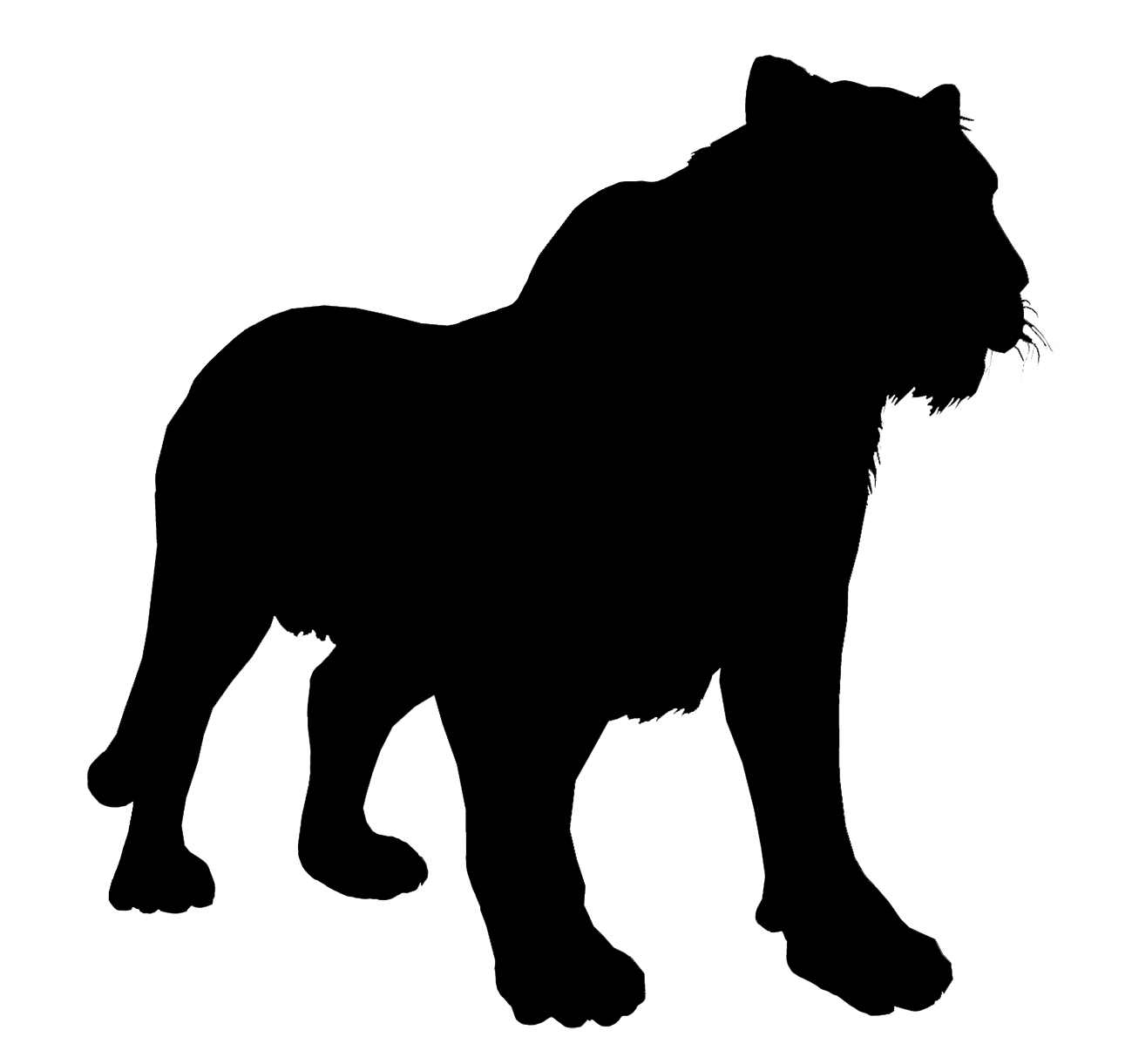 bengal tiger silhouette