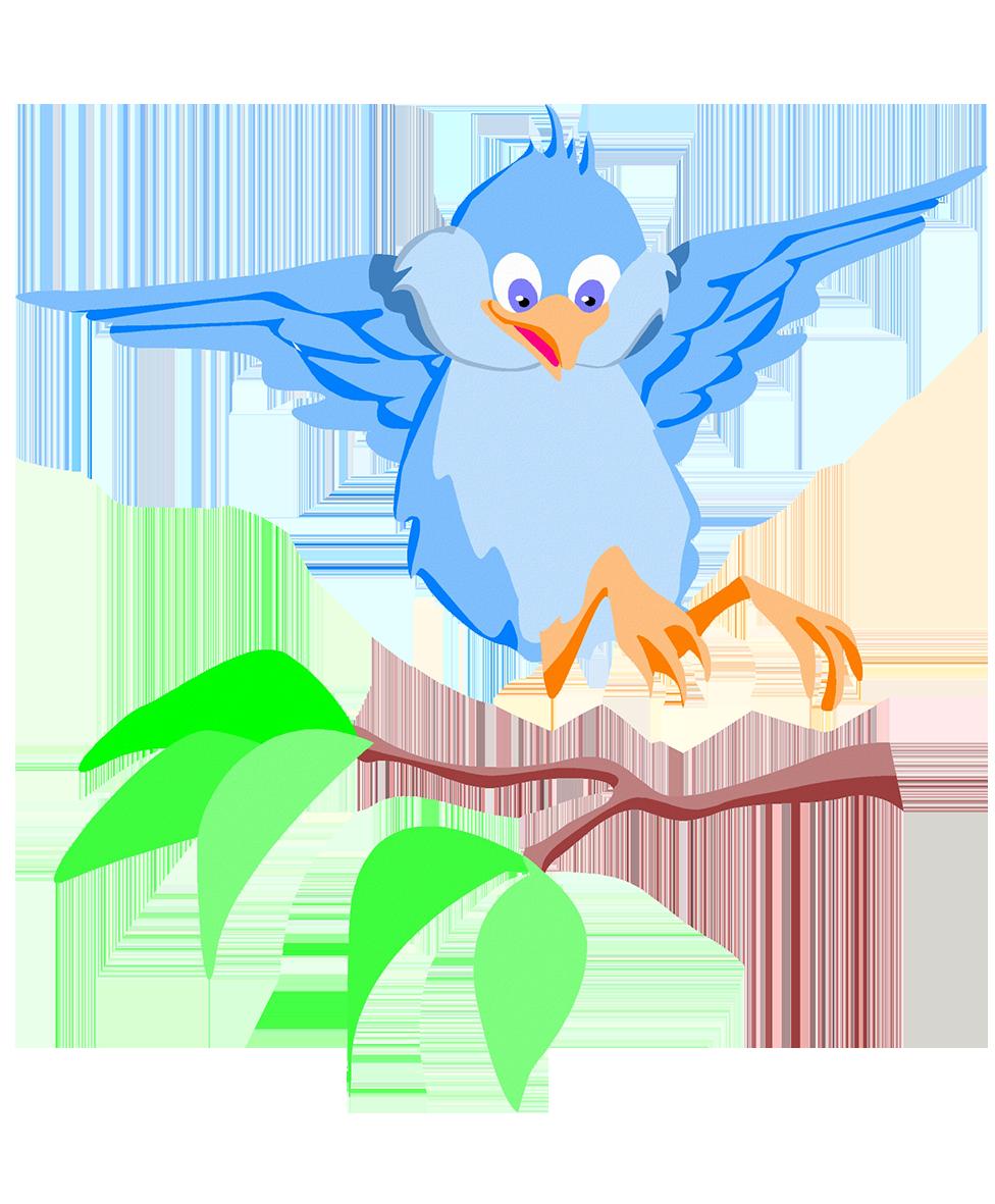Drawing of bird landing