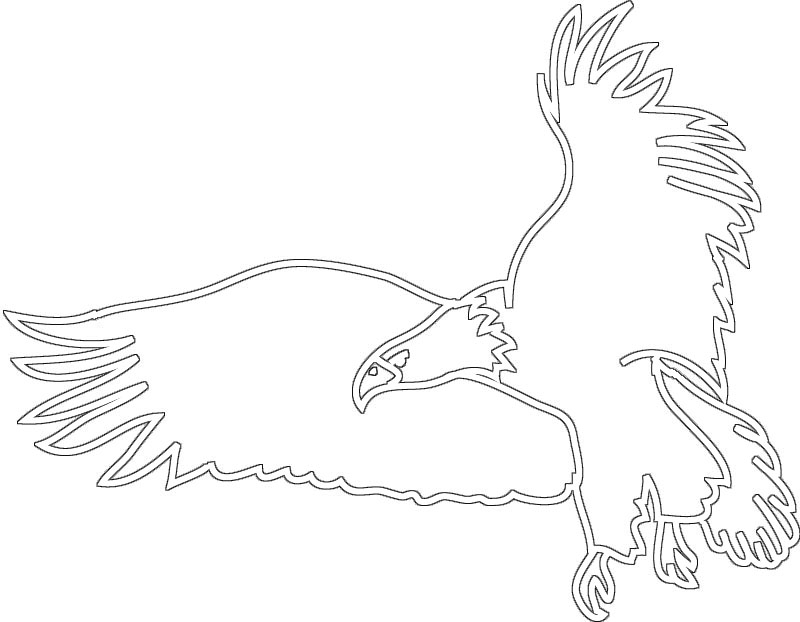black white silhouette flying eagle clipart