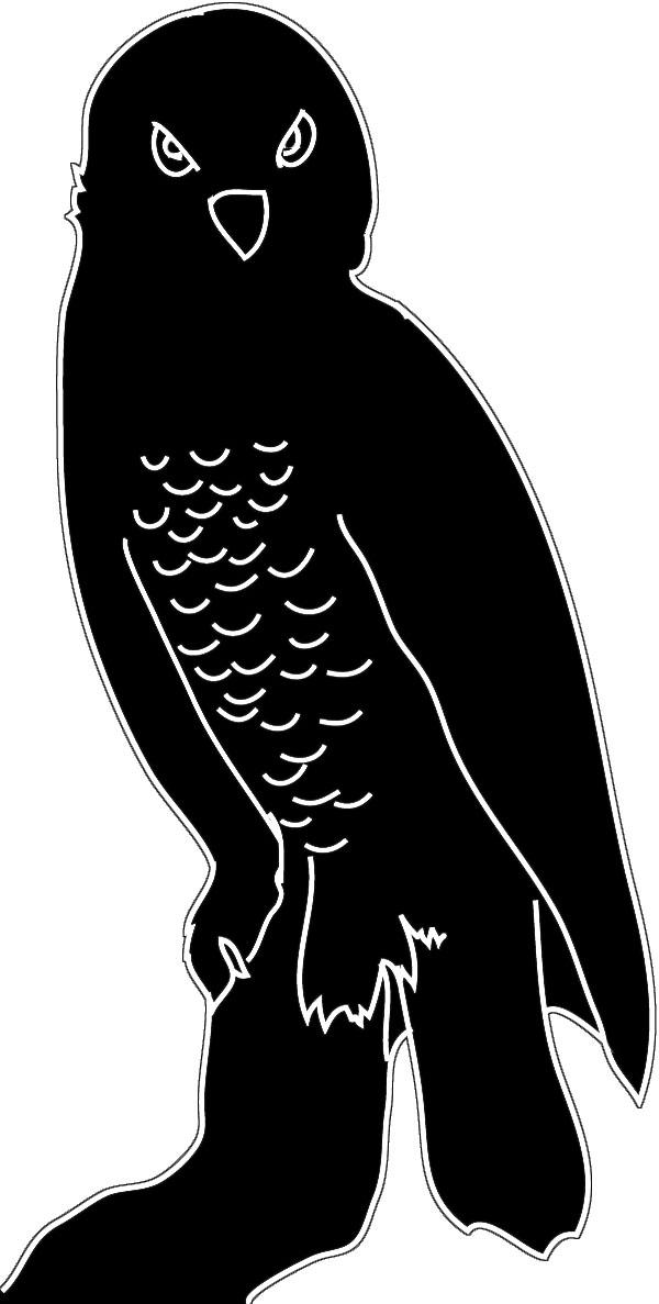 black white silhouette snowy owl