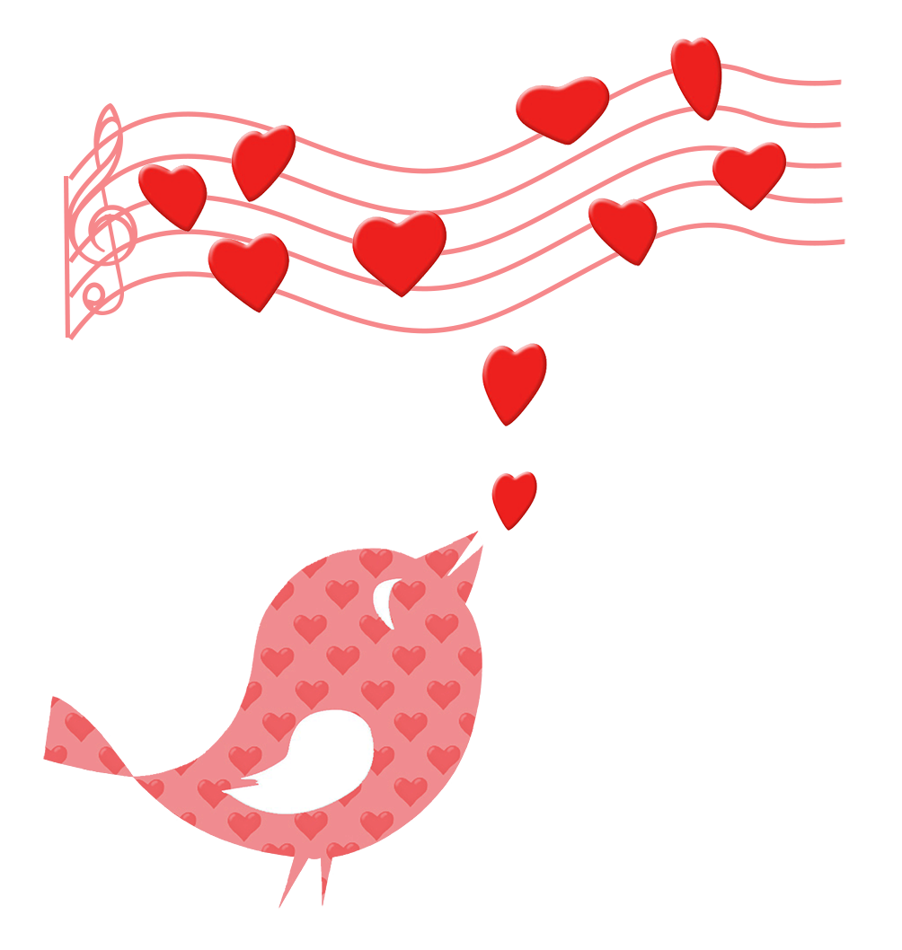 bird singing a love song clipart Valentine