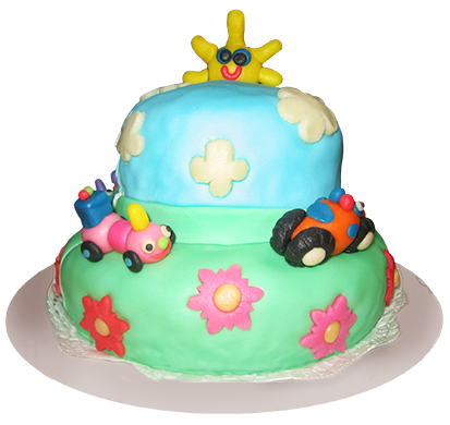 Birthday cake for kids with decoration