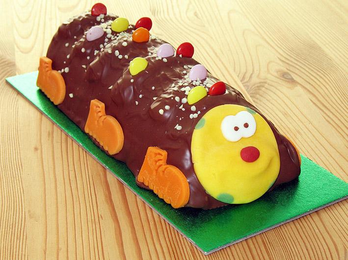 Birthday cake made as a larval
