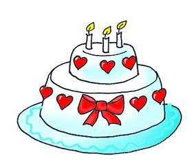 birthday clip art cake hearts