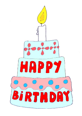 Happy birthday graphics cake candle