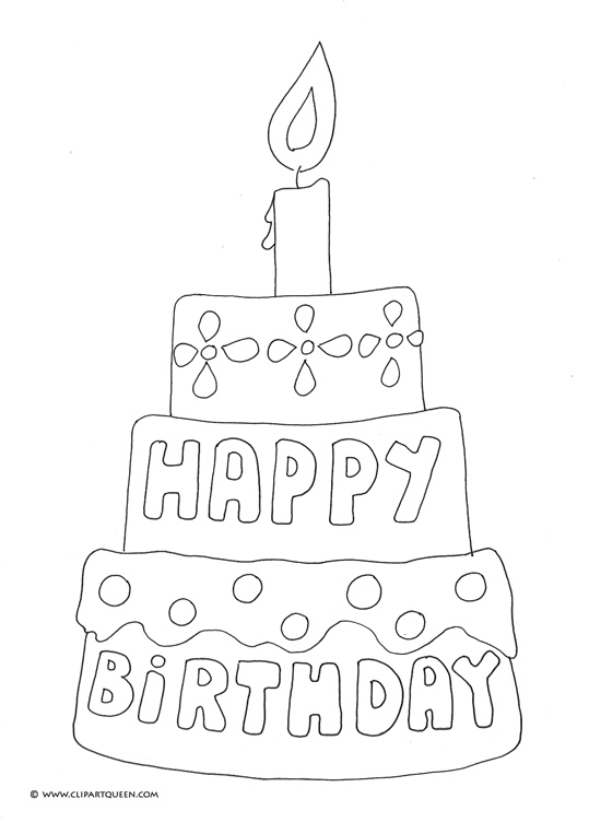 birthday cake coloring pages happy birthday