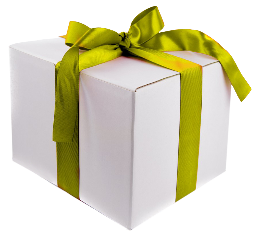 birthday clipart gift box green ribbon and bow