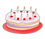 birthday ideas cake clip art