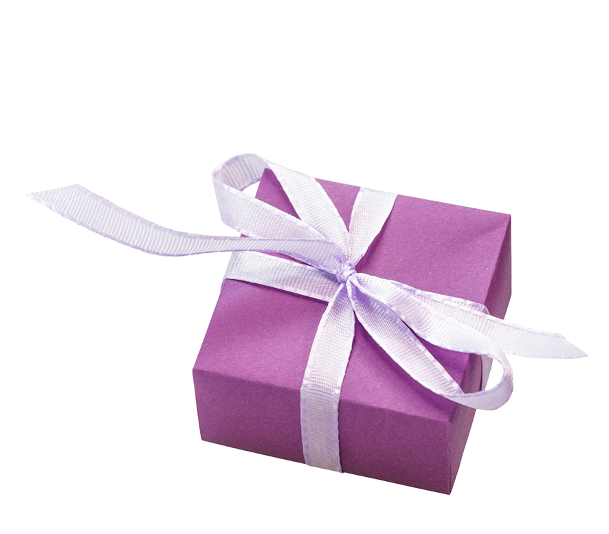 purple birthday present clipart