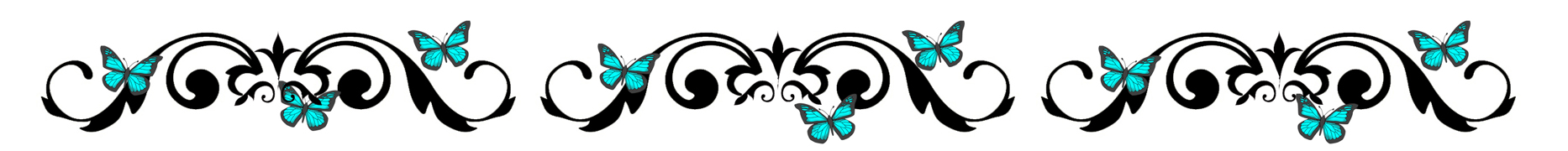 blue butterfly border