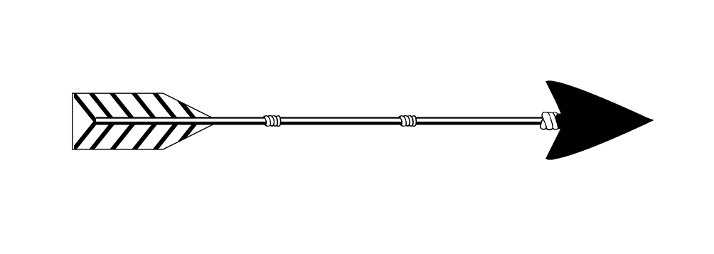 black arrow drawing png