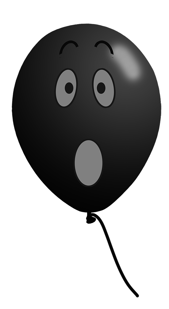 black balloon face