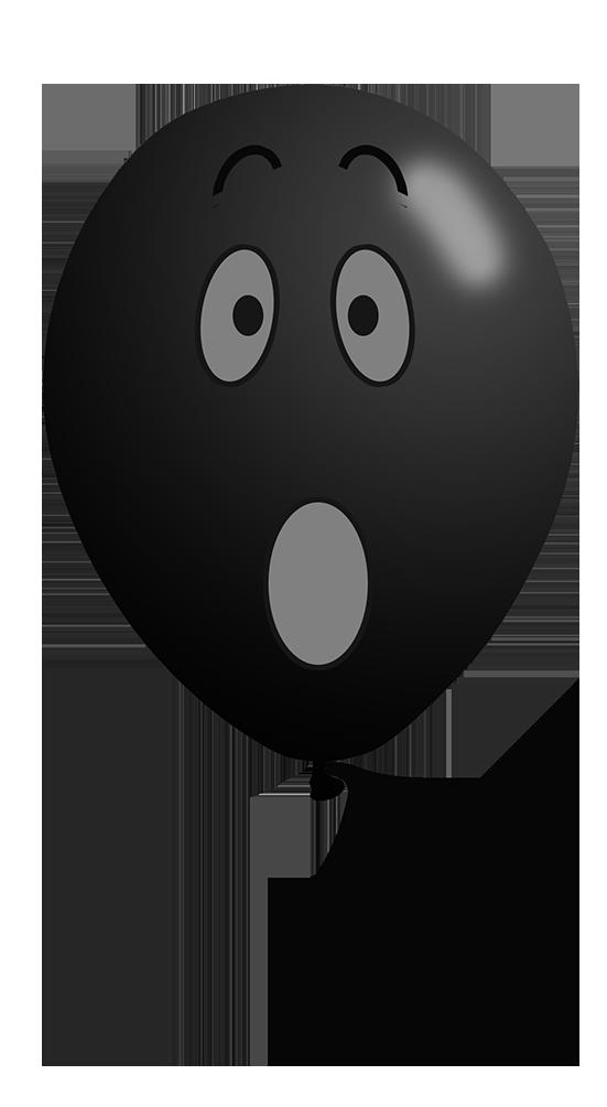 black balloon face