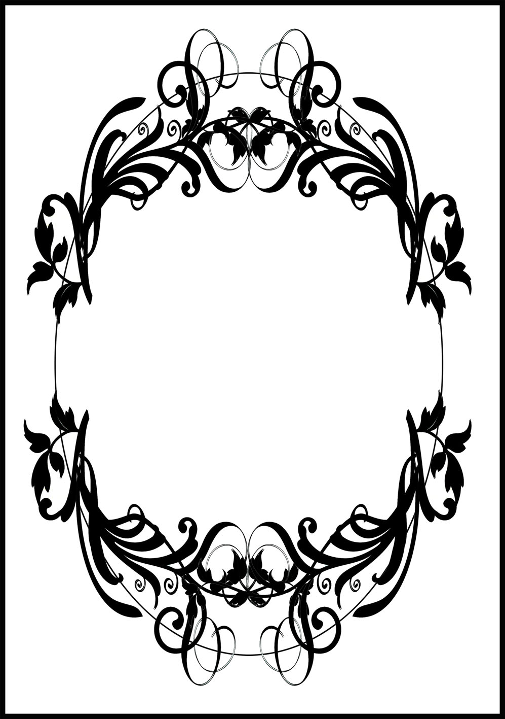 image relating to Printable Frames named Printable Borders and Picture Frames