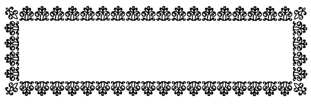 black border frame