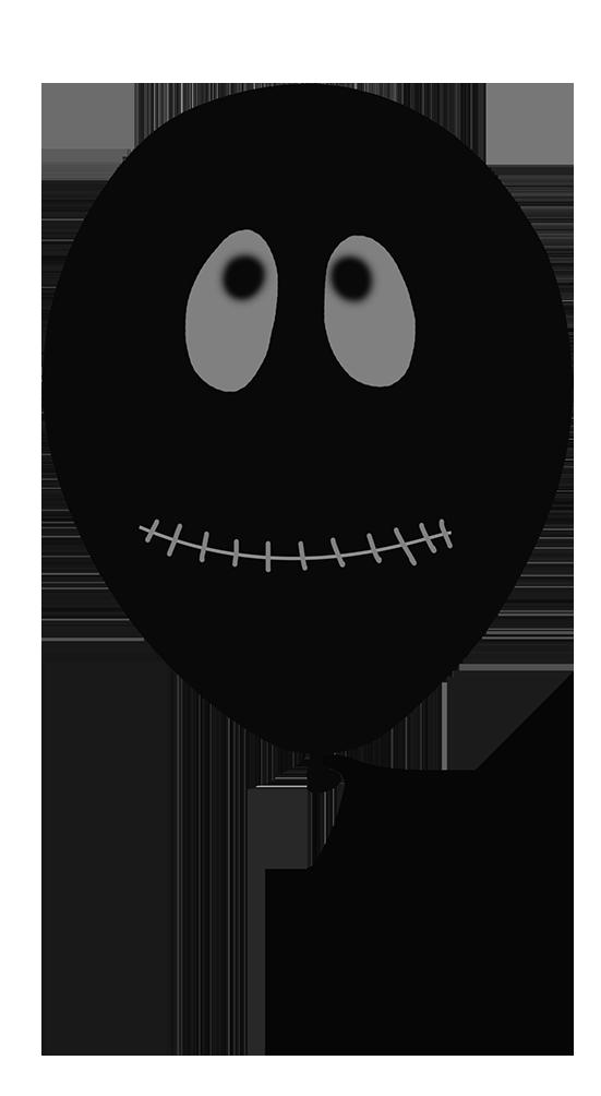 black Halloween balloon