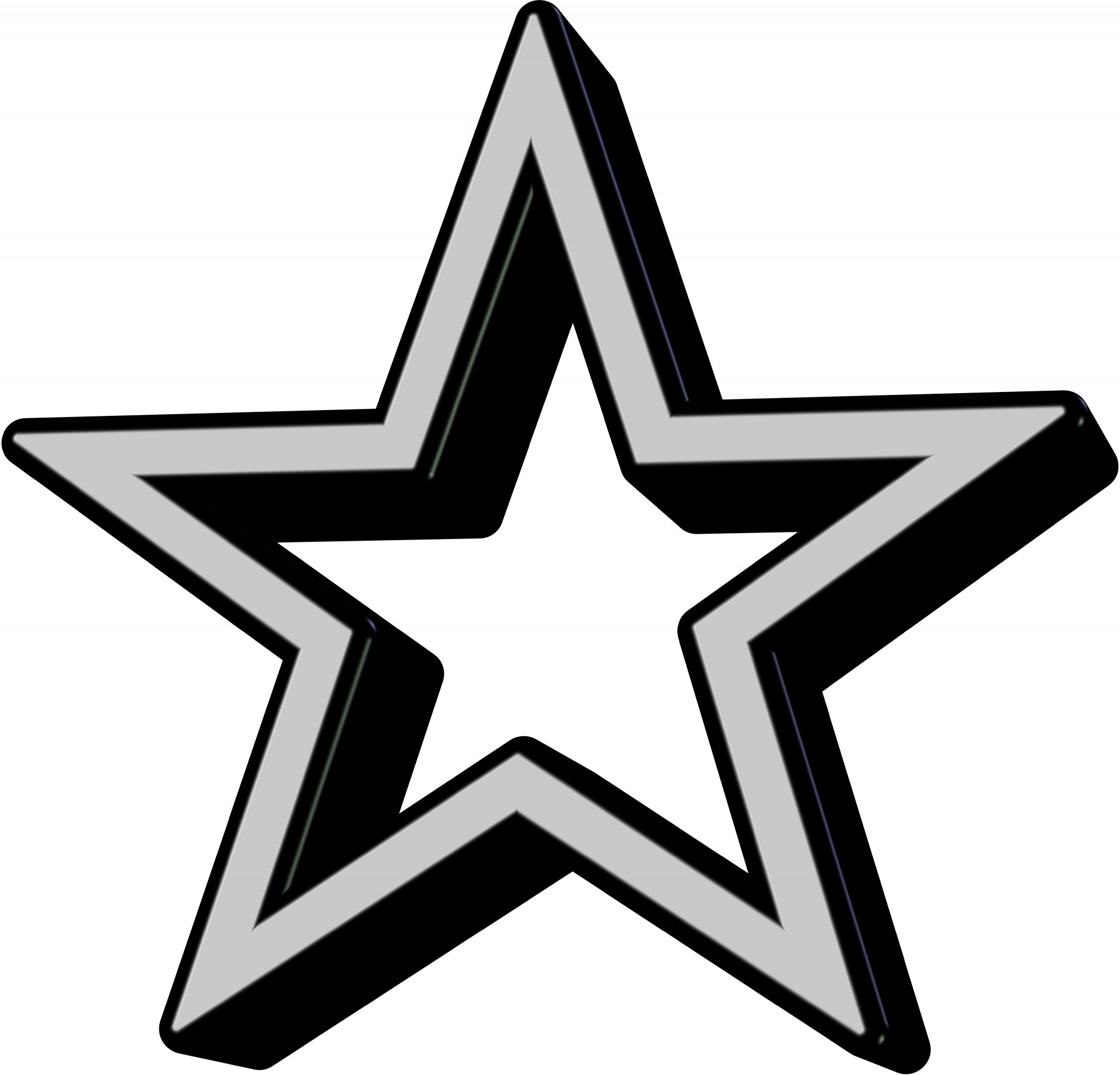 grey  black star icon