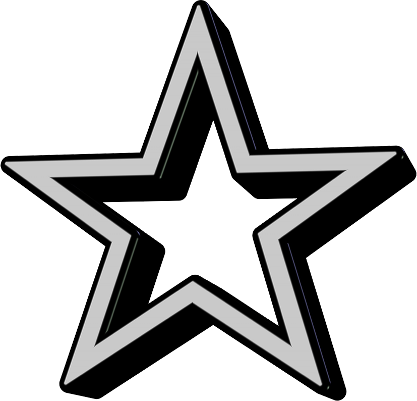 black grey star icon