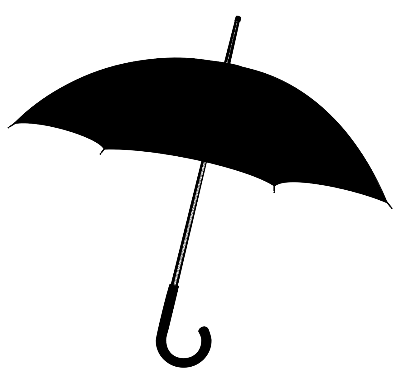 Black umbrella silhouette