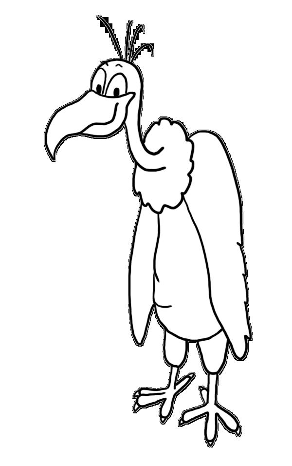 Happy vulture clip art