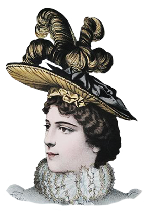 Victorian era hat for women 1883
