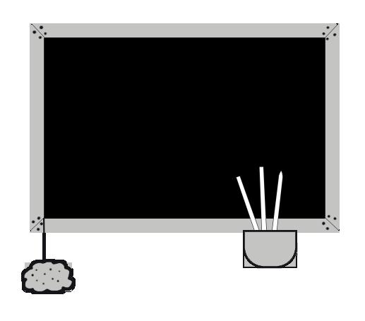 blackboard for school clip art