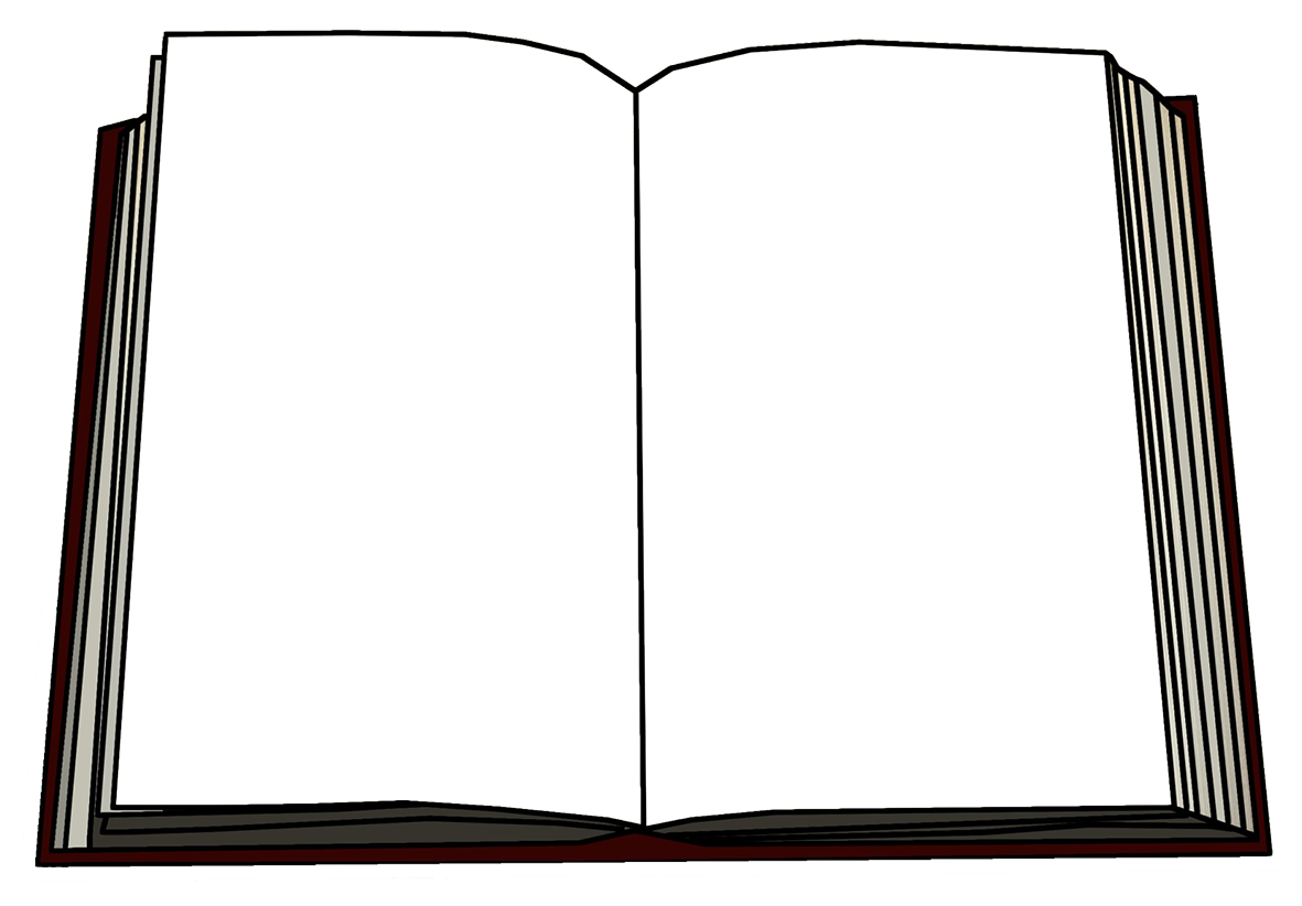 illustration of book blank pages