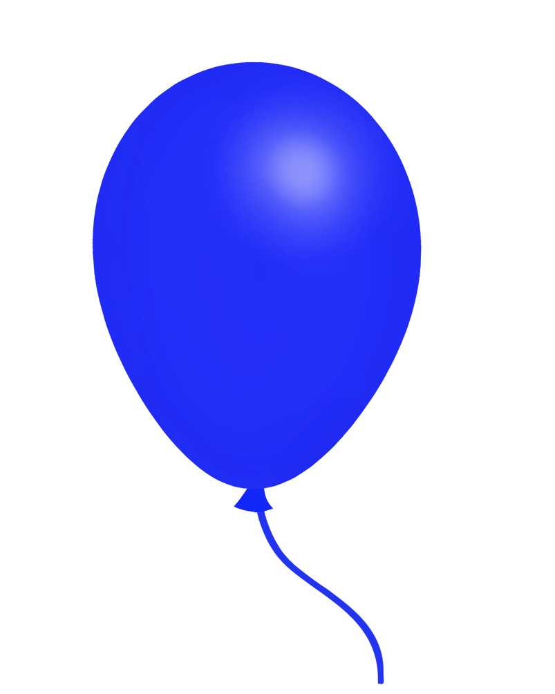 blue balloon clipart