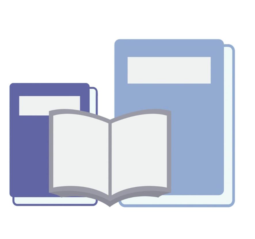 blue books open book clipart