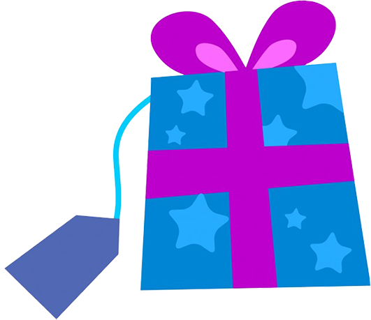 blue Christmas present clipart