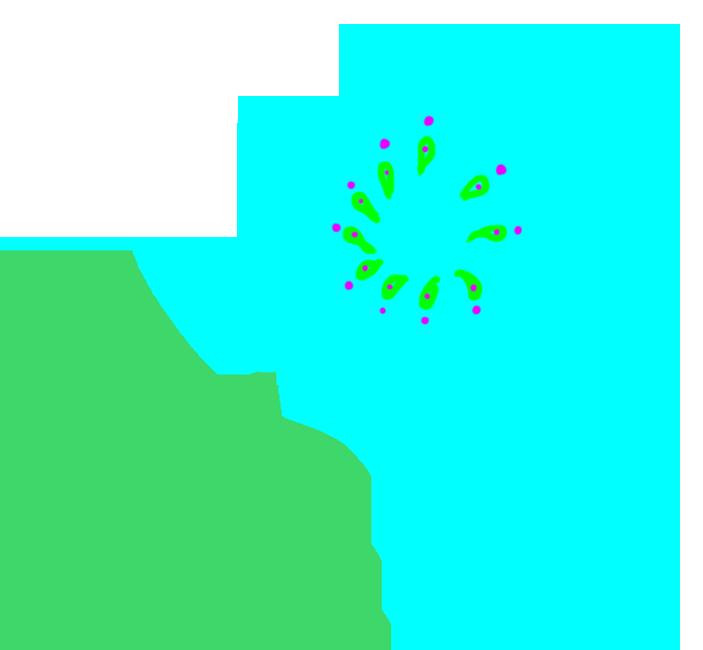 blue digital scrapbooking flower