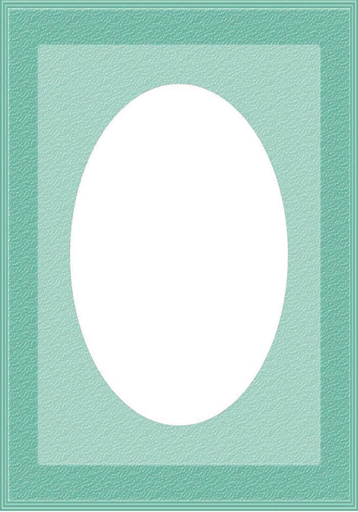 blue frame white oval