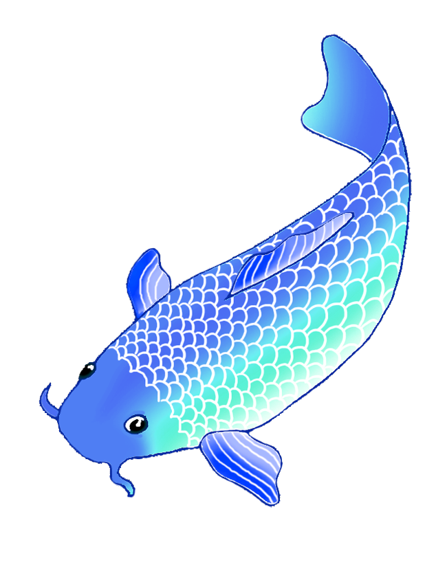 Blue koi fish clipart - photo#1