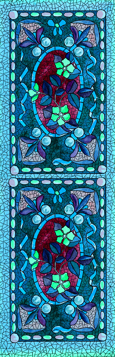 blue mosaics bookmark