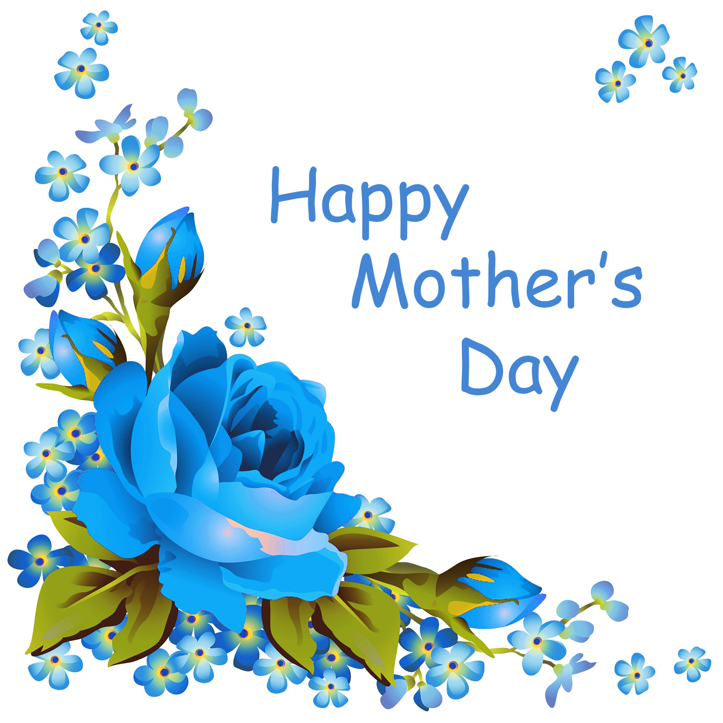 blue rose and forget-me-not mother's day