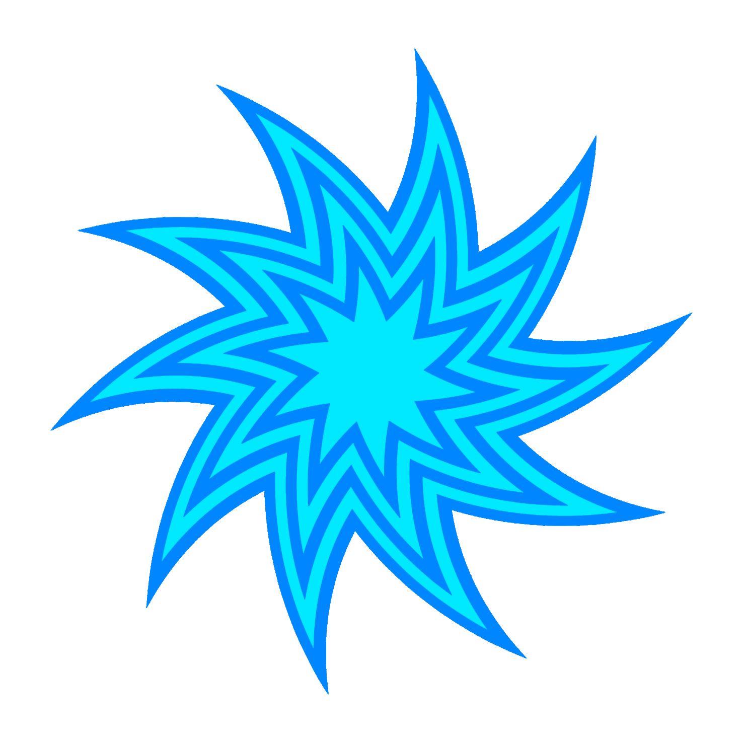 blue star swirl drawing