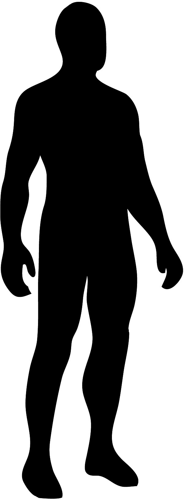 Male silhouette in black