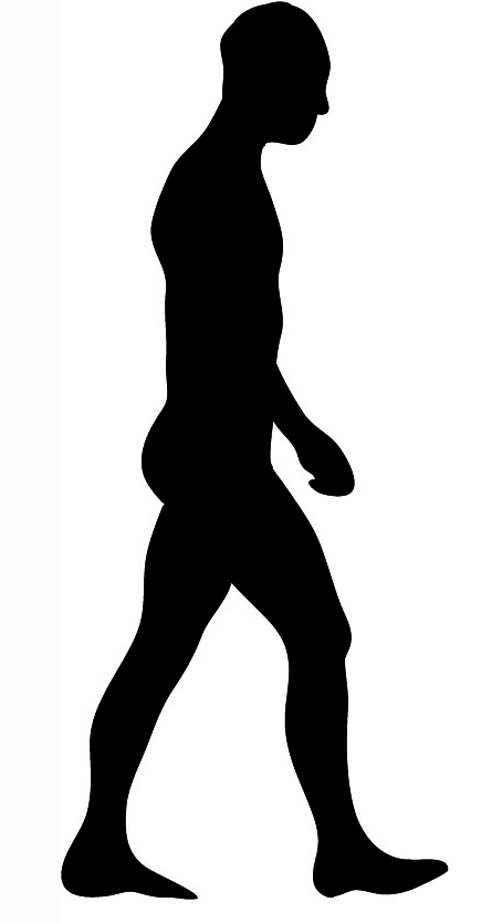 black silhouettes man walking