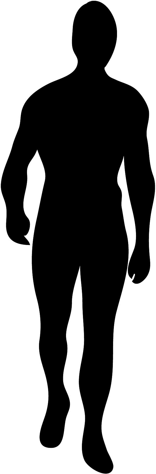 Man silhouette seen from front