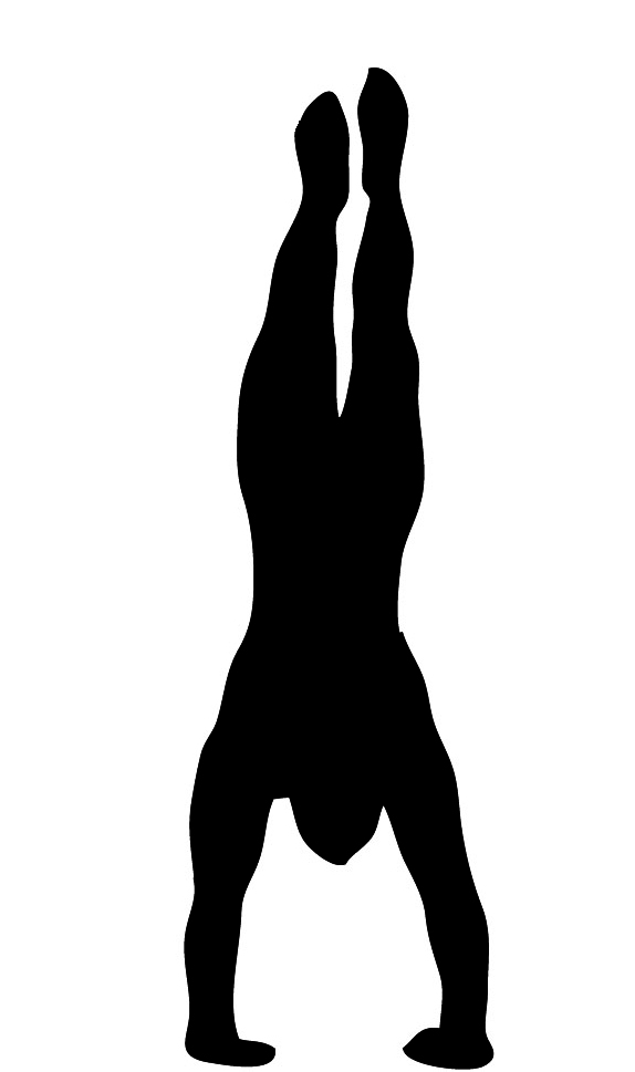 body silhouette handstand
