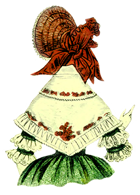 Victorian bonnet seen from the back