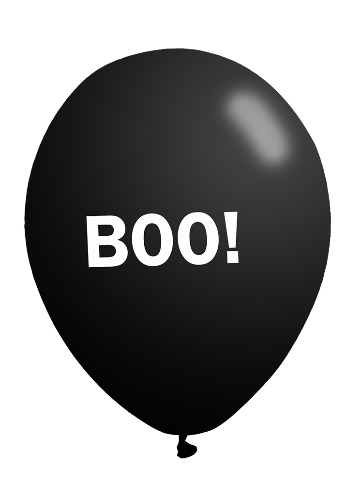 boo-Halloween balloon clipart