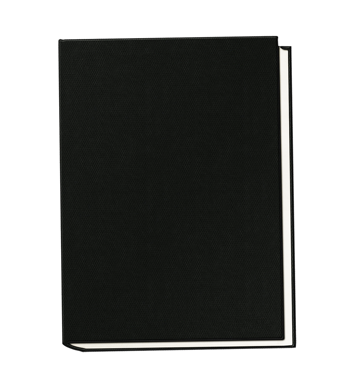 black book without decorations