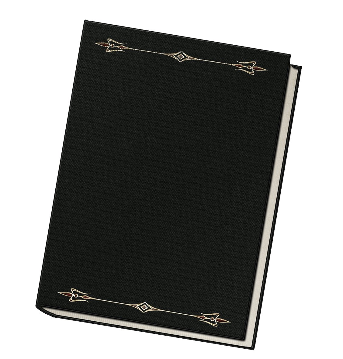 black book decorated clipart